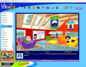 Whyville virtual Wellness Center PIP loft