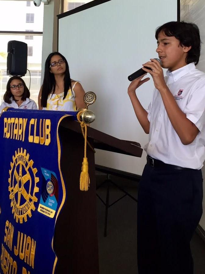 Teens address Rotary members